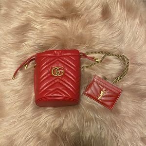 ❤️Matching Gucci Marmont Bucket & YSL Card Holder